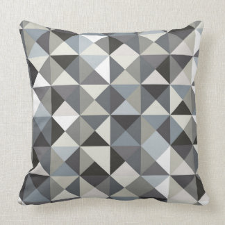 Abstract triangle pattern throw pillow