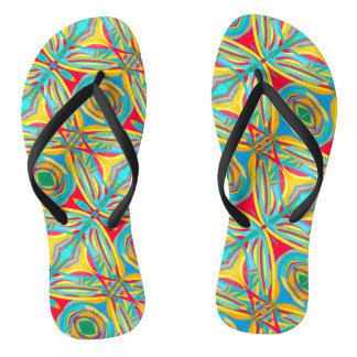 Abstract Triangle - Tie - Flip Flops - Thongs
