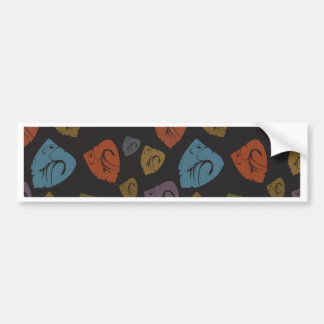 Abstract triangles bumper sticker