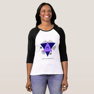 Abstract Triangles Doodles Brain Injury Awareness T-Shirt