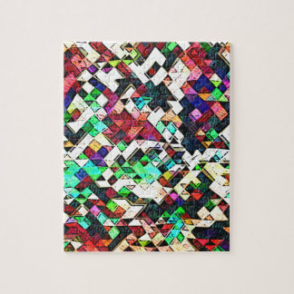 Abstract Triangles Graphic Puzzle