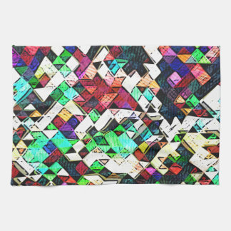 Abstract Triangles Graphic Towel