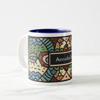 Abstract tribal art mug