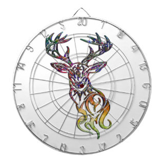Abstract Tribal Deer Dart Boards