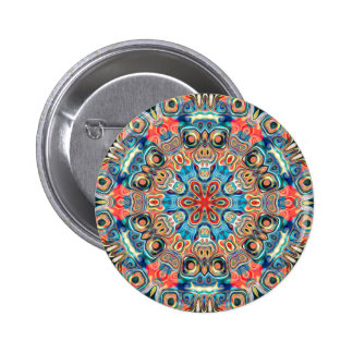 Abstract Tribal Mandala 2 Inch Round Button