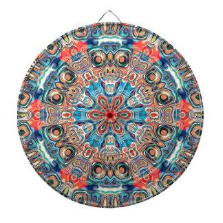 Abstract Tribal Mandala Dartboard