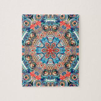 Abstract Tribal Mandala Jigsaw Puzzle