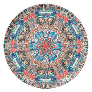 Abstract Tribal Mandala Plate