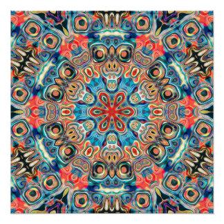 Abstract Tribal Mandala Poster