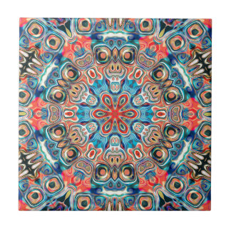 Abstract Tribal Mandala Tile