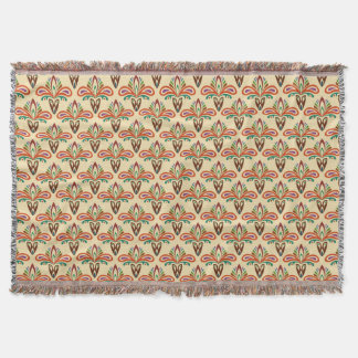 Abstract Tribal Pattern Throw Blanket