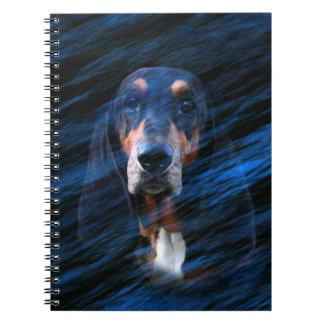 Abstract tricolor Basset Hound Notebook