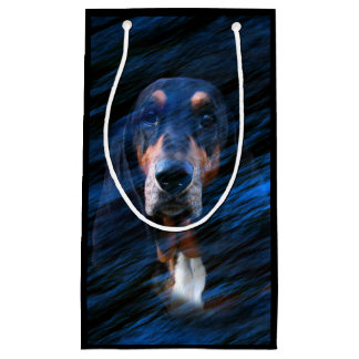 Abstract tricolor Basset Hound Small Gift Bag