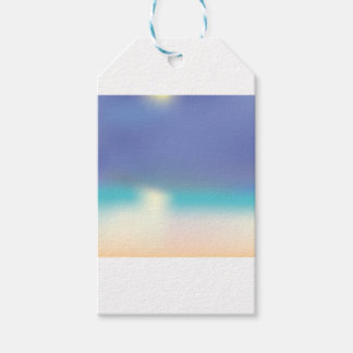 Abstract Tropical beach Gift Tags