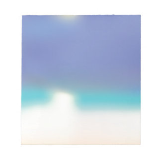Abstract Tropical beach Notepad