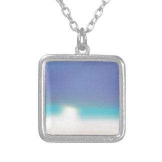 Abstract Tropical beach Silver Plated Necklace
