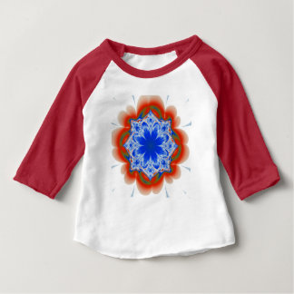 Abstract Tropical Blue Flower Plant Baby T-Shirt