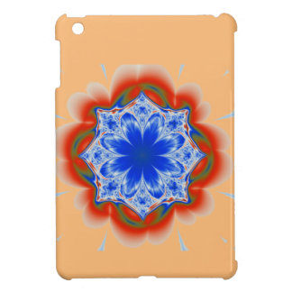 Abstract Tropical Blue Flower Plant iPad Mini Cover