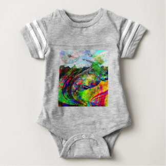 Abstract Tropical Fantasy Baby Bodysuit