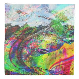 Abstract Tropical Fantasy Duvet Cover