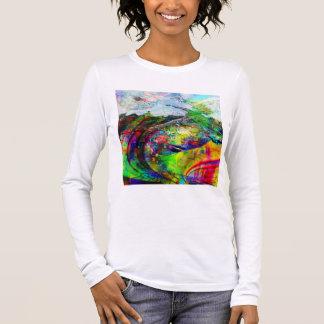 Abstract Tropical Fantasy Long Sleeve T-Shirt