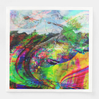 Abstract Tropical Fantasy Paper Dinner Napkin