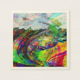 Abstract Tropical Fantasy Paper Napkin