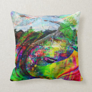 Abstract Tropical Fantasy Throw Pillow
