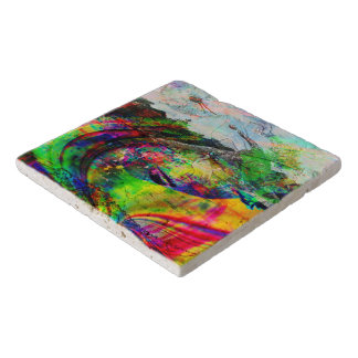 Abstract Tropical Fantasy Trivet