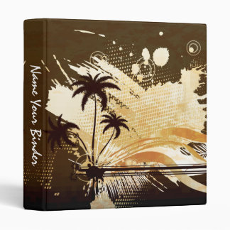 Abstract Tropical Palms Avery Binder