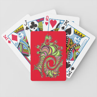Abstract Tube Colorful Design Poker Deck