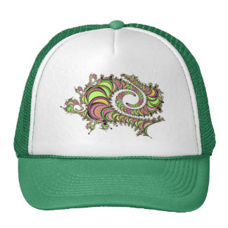 Abstract Tube Colorful Design Trucker Hat