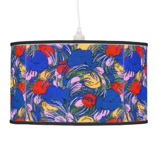 Abstract Tulip Flowers Hanging Pendant Lamp