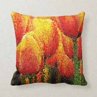 Abstract Tulip Painting Art - Pillow