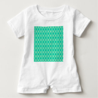 Abstract turquoise baby romper
