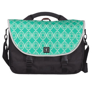 Abstract turquoise commuter bag