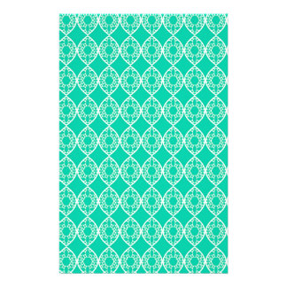 Abstract turquoise custom stationery