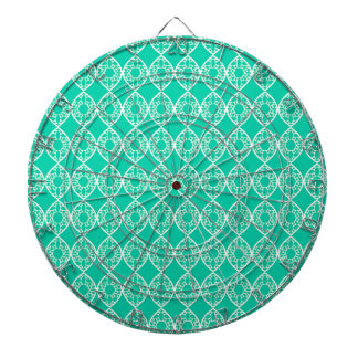 Abstract turquoise dartboard