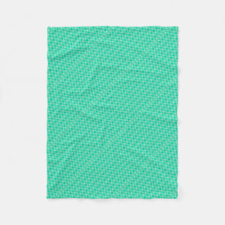 Abstract turquoise fleece blanket