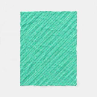 Abstract turquoise fleece blanket