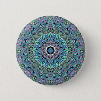 Abstract Turquoise Mandala 2 Inch Round Button