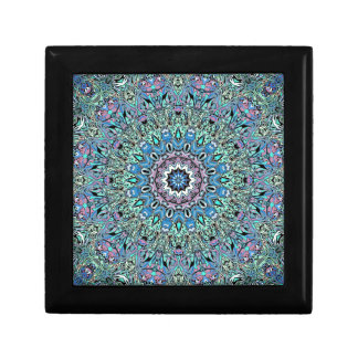 Abstract Turquoise Mandala Gift Box