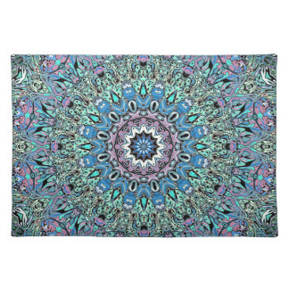 Abstract Turquoise Mandala Placemat