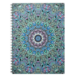 Abstract Turquoise Mandala Spiral Notebook