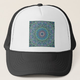 Abstract Turquoise Mandala Trucker Hat