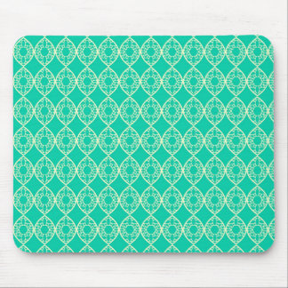 Abstract turquoise mouse pad