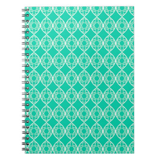 Abstract turquoise notebooks