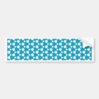 Abstract Turquoise Pattern 1 Bumper Sticker