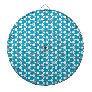 Abstract Turquoise Pattern 1 Dartboard