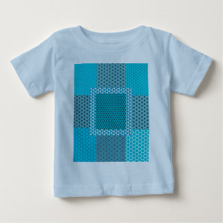 Abstract Turquoise Pattern Baby T-Shirt